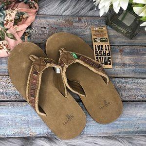 Sanuk Fraid So Men's Flip Flop Sandals NWT Sz 8